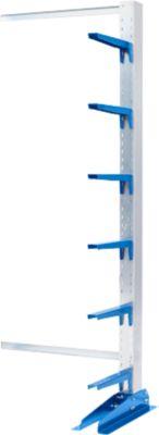 Sledemontageplaten KRM, enkelzijdig, hoogte 2000 mm, armlengte slede 400 mm, eenzijdig, hoogte 2000 mm, lengte sledemodel 400 mm.