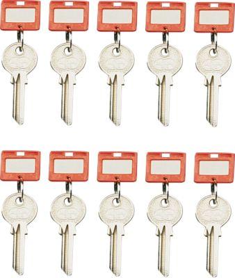 Sleutelhangers, 10 stuks, rood