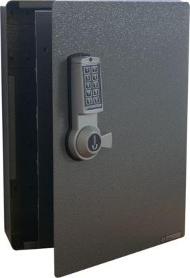 Sleutelkast met elektronisch slot, 141 haken, zilver hamerslag