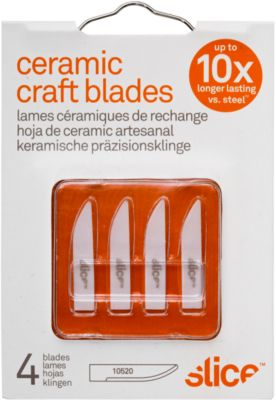 Slice Ersatzklingen, für Slice Skalpellmesser, gerade Schneide, 4er-Pack
