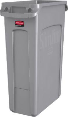 Slim Jim® Abfallbehälter, 87 Liter, grau