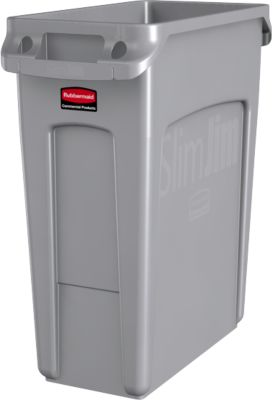 Slim Jim afvalbak m. vent. 60l, grijs