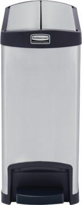 Slim Jim Step-ON Tretabfallbehälter, aus Edelstahl, 30 Liter, schwarz