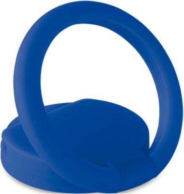 Smartphone Fingerhalter RING, Halter/Ständer, um 360° drehbar, Einkaufschip, Klebeetikett, Werbefläche, blau