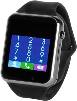 Smartwatch Connect, Bluetooth, multifunktional, Micro-USB Kabel, Werbedruck 35 x 10 mm, schwarz