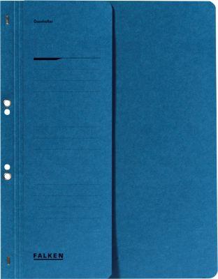 Snelhechtmap voor in ringmappen, halve voorvlap, blauw