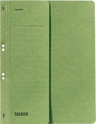 Snelhechtmap voor in ringmappen, halve voorvlap, groen