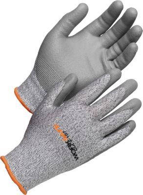 Snijbestendige handschoenen Snijdt 3-107, snijweerstand 3, EN388, HPPE/PU, naadloos, maat 9, 6 paar.