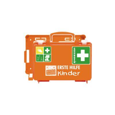 Soehngen Erste-Hilfe-Koffer QUICK-CD SCHULE, ab 6 Jahren, inkl. Wandhalterung