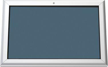 Softline infobord, achterwand blauw, 800 x 545 mm
