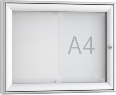 Softline mededelingenbord WSM FSK 2, ESG-glas, voor 2x A4 meldingen, horizontaal