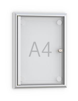 Softline platte wandvitrine MSK, met frame loze deur, 1 x A4
