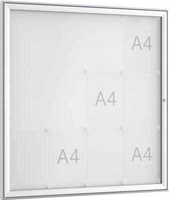 Softline Schaukasten WSM FSK 16, ESG Glas, für 16x DIN A4 Aushänge, Hochformat