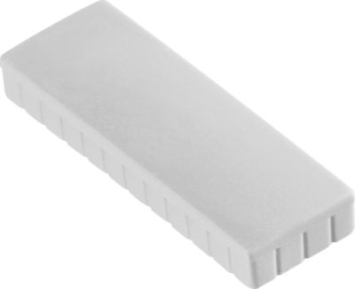 Solide magneet, 54 x 19 mm, wit