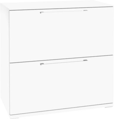 Solus hangmappenkast 2x OH, h 760 x b 800 x d 440 mm, wit