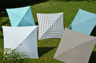Sonnenschirm Jan Kurtz Murano, Stahl/Polyacryl, 1600 x 1600 mm, weiß/taupe