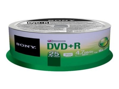 Sony 25DPR47SP - DVD+R x 25 - 4.7 GB - Speichermedium