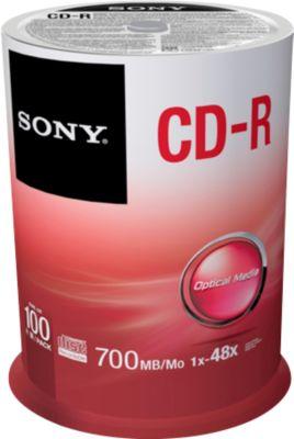 SONY® CD-R, bis 48fach, 700 MB/80 min, 100er-Spindel