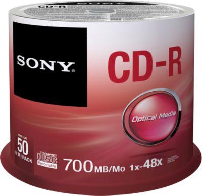 SONY® CD-R, bis 48fach, 700 MB/80 min, 50er-Spindel