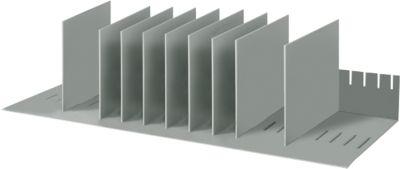 Sortierstation, DIN A4, Polystyrol, für Schränke, 8 Fächer, B 700 x T 275 x H 210 mm