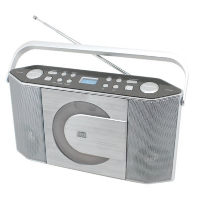 Soundmaster Stereo-Kofferradio RCD 1750, silber, CD-/MP3-Player, Festsenderspeicher
