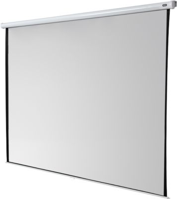 Spaarrolbeeldscherm, 2000 x 2000 mm projectiedoek, wand- of plafondmontage, 2000 x 2000 mm.