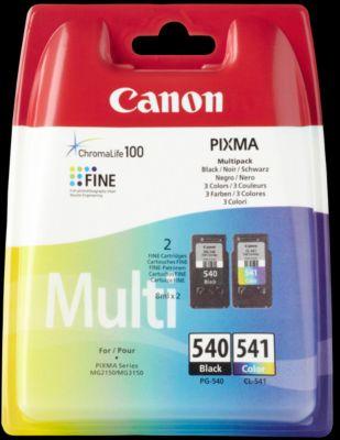 Sparpaket 2 Stück Canon Tintenpatrone PG-540/CL-541 schwarz/color