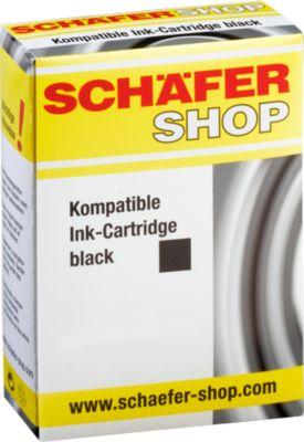 Sparpaket 2 Stück Schäfer Shop Tintenpatronen baugleich mit PGI-550PG BK XL, schwarz