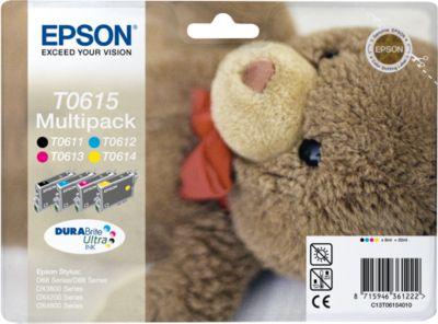 Sparpaket 4 Stück Epson Tintenpatronen T06154010 cyan/magenta/gelb/schwarz