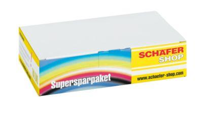 Sparpaket 4 Stück Schäfer Shop Tintenpatronen baugleich mit T1285, cyan, magenta, gelb, schwarz