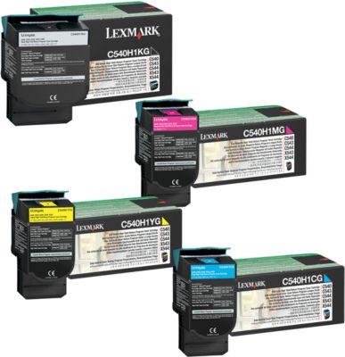 Sparpaket 4x Lexmark C540 Tonerkassette cyan, magenta, gelb, schwarz
