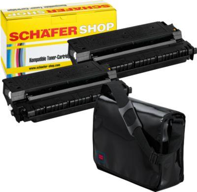 Sparpaket Schäfer Shop 2 x Tonerkasette baugleich E30, schwarz + Lorrybag
