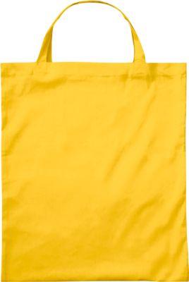 Sparset Baumwolltasche BASIC, 250 Stück, innenseitig versäumte Nähte, gelb