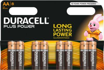 Sparset DURACELL® Batterie Plus Power, Mignon AA, 1,5 V, 8 Stück