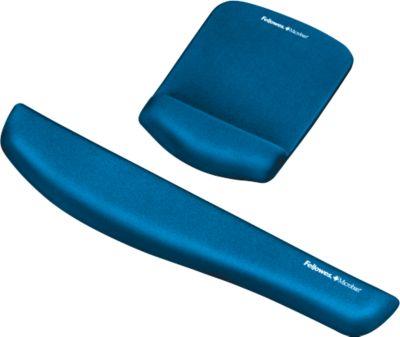 Sparset Fellowes PlushTouch, Tastatur-Handgelenkauflage und Mauspad-Handgelenkauflage, blau