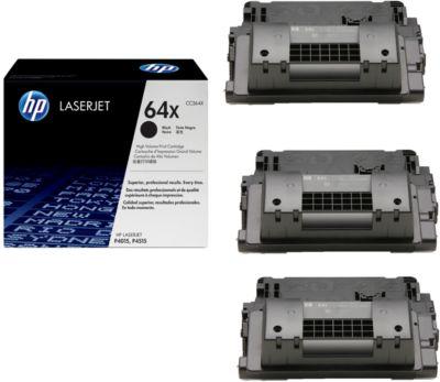 Sparset HP LaserJet CC364X Druckkassette 3 x schwarz