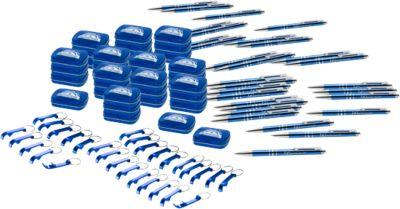 Sparset Journey, 120-tlg., Kugelschreiber, Starmint, Flaschenöffner, inkl. Lasergravur & allen Grundkosten, blau