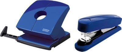 Sparset Novus Hefter B4 FC + Locher B 230, Hefter 50 Blatt, Locher 30 Blatt, blau