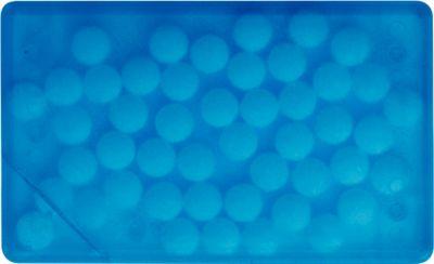 Sparset Pfefferminzbox Quadro, 150 Stück, inkl. einfarbiger Druck und Grundkosten, blau