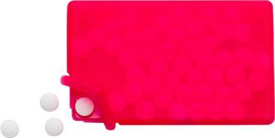 Sparset Pfefferminzbox Quadro, 150 Stück, inkl. einfarbiger Druck und Grundkosten, rot