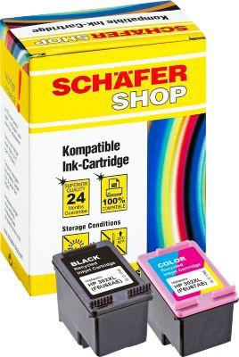 Sparset Schäfer Shop Tintenpatronen baugleich mit HP 302XL (F6U68AE, F6U67AE) (Multipack)