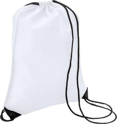 Sparset Schuhrucksack Basic, Polyester, einfarbiger Druck inkl. Grundkosten, 100 St., weiß