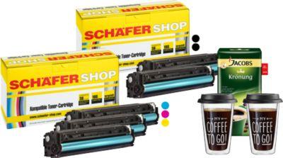 Sparset Toner baugleich HP 131er Serie + Gratis Jacobs Krönung + 2 Thermobecher
