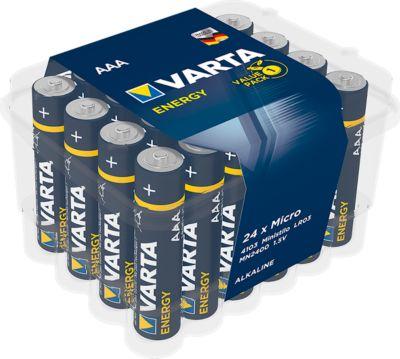 Sparset VARTA Batterien Energy, Micro AAA, 1,5 V, 24 Stück