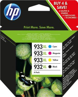 Sparsett 4 Stucks HP Printpatrone Nr. 932/933 zwart, kleur