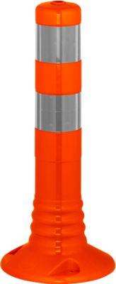 Sperrpfosten Flexipfosten, selbstaufrichtend, H 450 mm, orange-silber