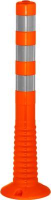 Sperrpfosten Flexipfosten, selbstaufrichtend, H 750 mm, orange-silber