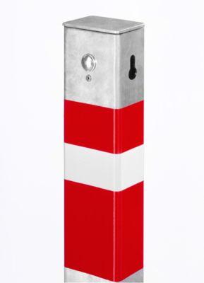 Sperrpfosten, umlegbar, mit Profilhalbzylinder-Vorrichtung