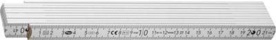 Spitzen-Zollstock aus Holz, 2 m, weiß