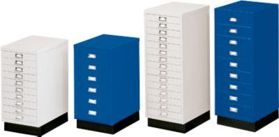 SSI-ladekast DIN A3, blauw, 10 laden, 675 mm hoog